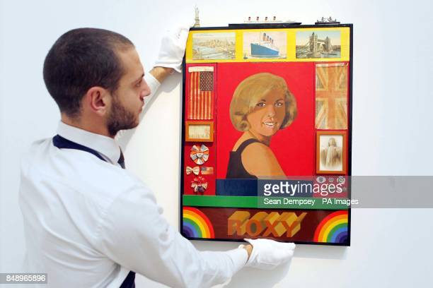 Sir Peter Blake's artwork Roxy Roxy on sale at Sotheby's with an estimated sale value of 150000250000