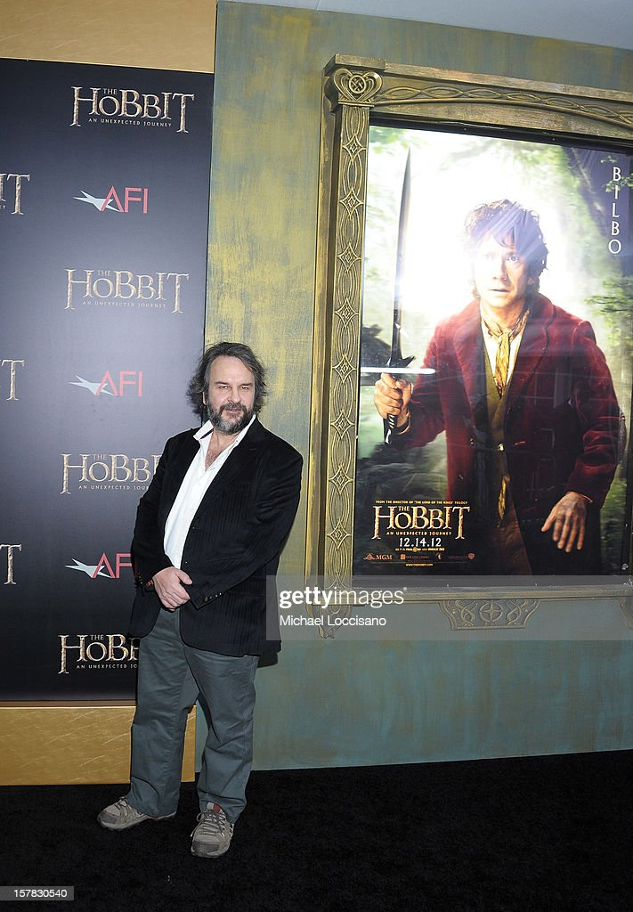 Sir <a gi-track='captionPersonalityLinkClicked' href=/galleries/search?phrase=Peter+Jackson+-+Filmmaker&family=editorial&specificpeople=203018 ng-click='$event.stopPropagation()'>Peter Jackson</a> attends 'The Hobbit: An Unexpected Journey' New York premiere benefiting AFI at Ziegfeld Theater on December 6, 2012 in New York City.