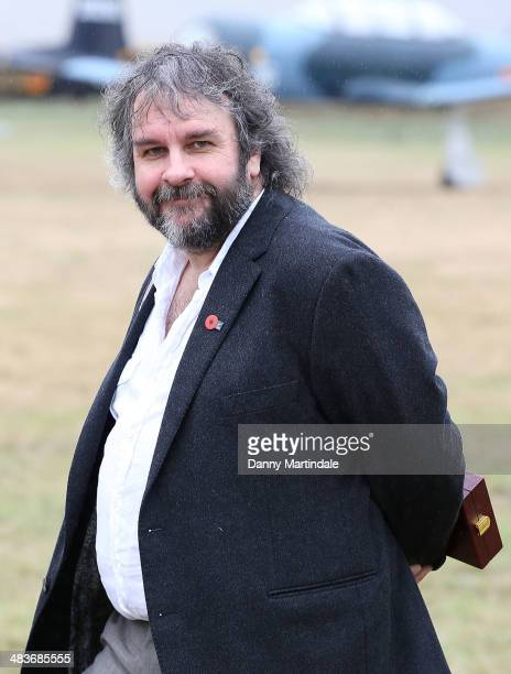 Sir Peter Jackson attends the 'Knights of the Sky' exhibition at Omaka Aviation Heritage Centre in Blenheim on April 10 2014 in Wellington New...