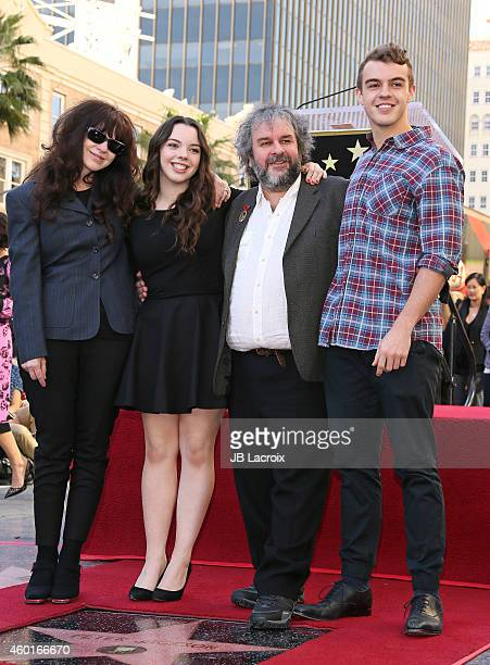 Sir Peter Jackson with his family attend the ceremony honoring him with a Star on The Hollywood Walk of Fame on December 8 2014 in Hollywood...