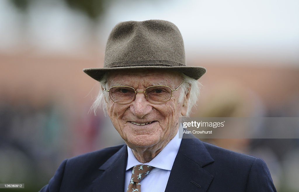 Sir Peter O'Sullevan at Newmarket racecourse on September 24, 2011 in Newmarket, England.