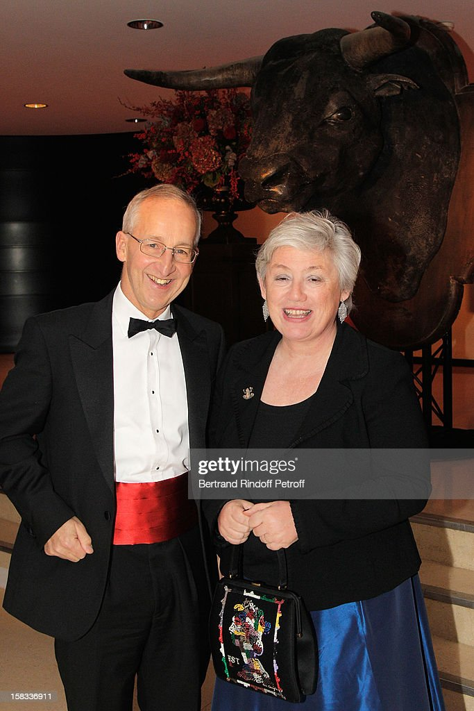 Sir Peter Ricketts, British Ambassador to France (L) and his wife Lady Suzanne Ricketts attend the Arop Gala Event for Carmen New Production Launch at Opera Bastille on December 13, 2012 in Paris, France.
