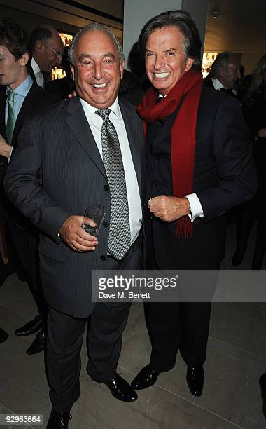 Sir Philip Green and Richard Caring attend the London Evening Standard Influentials Party at Burberry on November 10 2009 in London England
