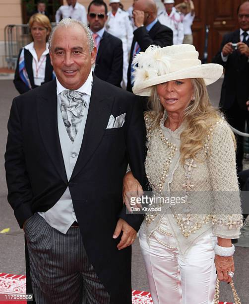 Sir Philip Green and wife Tina Green attend the religious ceremony of the Royal Wedding of Prince Albert II of Monaco to Princess Charlene of Monaco...