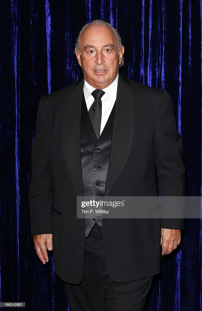 Sir <a gi-track='captionPersonalityLinkClicked' href=/galleries/search?phrase=Philip+Green+-+British+Businessman&family=editorial&specificpeople=220418 ng-click='$event.stopPropagation()'>Philip Green</a> attends the Retail Trust London Ball at Grosvenor House, on January 28, 2013 in London, England.