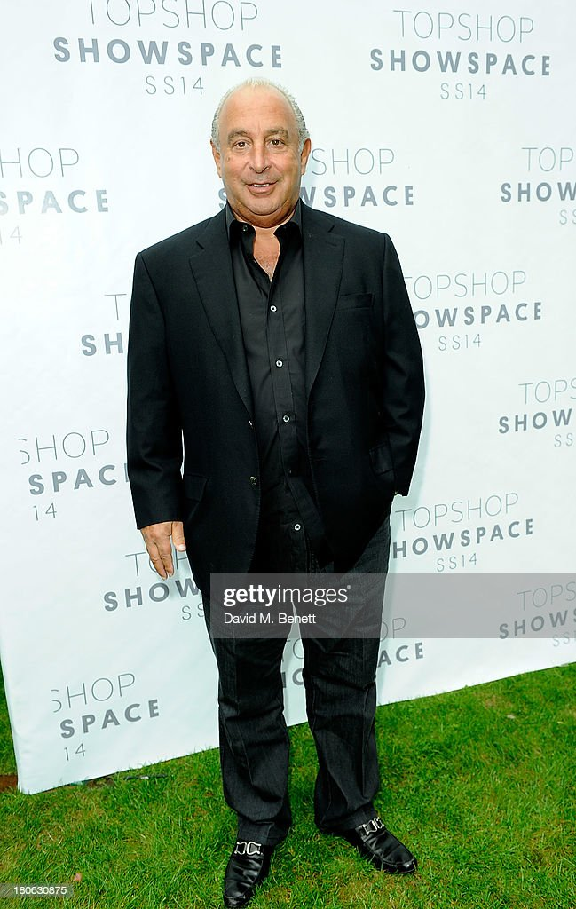 Sir Philip Green attends the Unique SS14 show during London Fashion Week on September 15, 2013 in London, England.