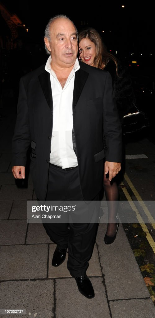 Sir Philip Green sighting at Annabels on November 27, 2012 in London, England.