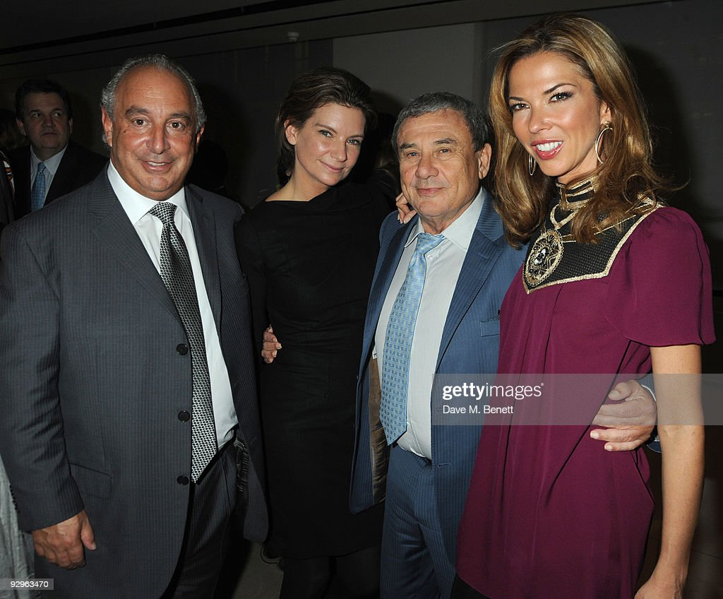 Sir Philip Green with Sol and Heather Kerzner attend the London Evening Standard Influentials Party at Burberry on November 10 2009 in London England