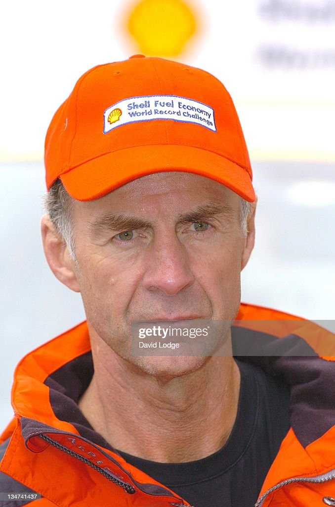 Sir <a gi-track='captionPersonalityLinkClicked' href=/galleries/search?phrase=Ranulph+Fiennes&family=editorial&specificpeople=235354 ng-click='$event.stopPropagation()'>Ranulph Fiennes</a> during Shell Fuel Economy World Record Challenge - Photocall at Waterloo Place in London, Great Britain.