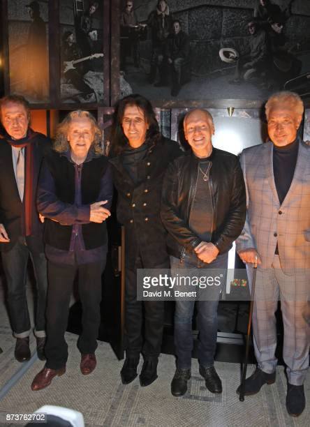 Sir Ray Davies Donovan Alice Cooper Peter Frampton and Sir Tom Jones attend the unveiling of 'The Adoration Trilogy Searching For Apollo' by Alistair...