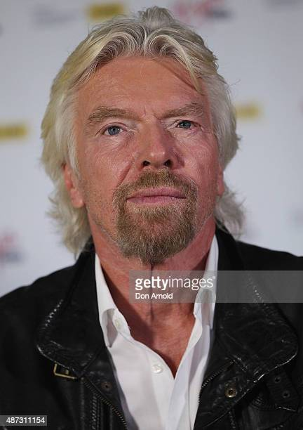 Sir Richard Branson addresses the media on September 9 2015 in Sydney Australia Sir Branson is calling on Australians to reach out for R U OK day on...