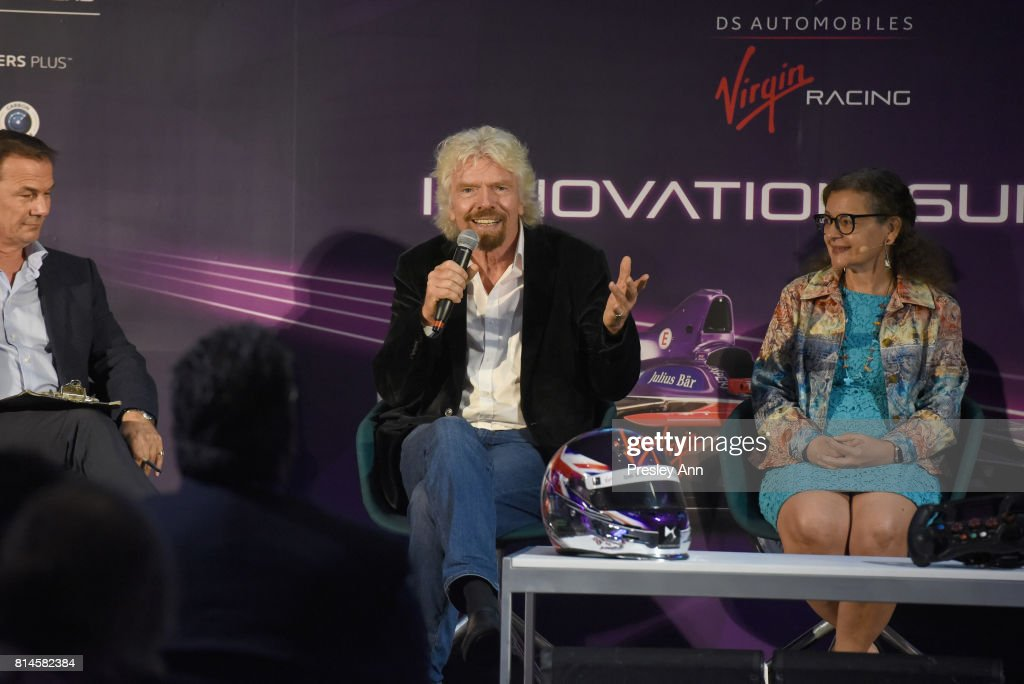 Sir Richard Branson, Alex Tai and a panel of business leaders and experts joined DS Virgin Racing for their first annual Innovation Summit in the US, held at Brooklyn Navy Yard's New Lab, calling for businesses to 'drive forward' technology to tackle climate change on July 14, 2017 New York City, New York.