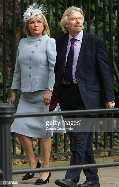 Sir Richard Branson and his wife Joan Branson arrives at the 10th anniversary memorial service for Diana Princess Of Wales held at the Guards Chapel...