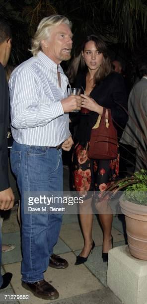 Sir Richard Branson and Kate Middleton attend the Sony Ericsson WTA Tour's preWimbledon party hosted by Sir Richard Branson of Virgin at The Roof...