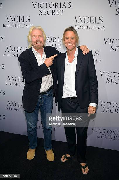 Sir Richard Branson and photographer Russell James attend Russell James' 'Angels' book launch hosted by Victoria's Secret on September 10 2014 in New...