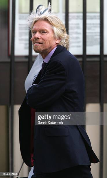 Sir Richard Branson arrives at the 10th anniversary memorial service for Diana Princess Of Wales held at the Guards Chapel on August 31 2007 in...
