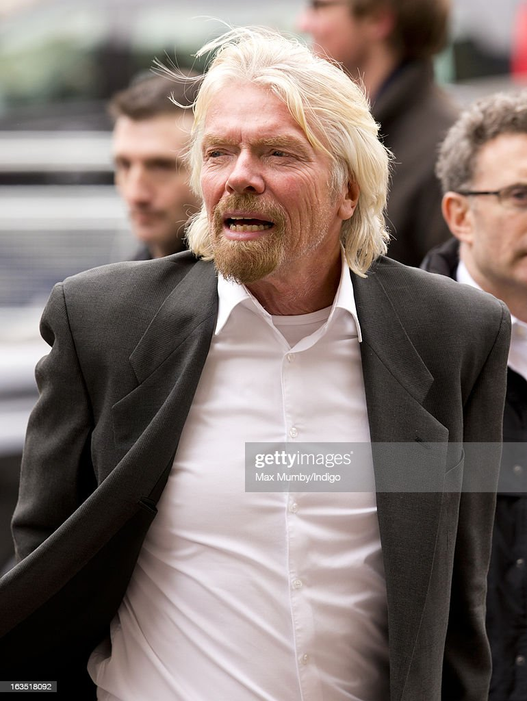 Sir <a gi-track='captionPersonalityLinkClicked' href=/galleries/search?phrase=Richard+Branson&family=editorial&specificpeople=220198 ng-click='$event.stopPropagation()'>Richard Branson</a> arrives at Westminster Abbey to attend The Commonwealth Day Observance on March 11, 2013 in London, England. Queen Elizabeth II, who is the head of the Commonwealth, was due to attend the event, but cancelled as she continues her recovery after a brief illness. Commonwealth Day Observance takes place annually on the second Monday in March, and this year's theme is 'Opportunity Through Enterprise'.