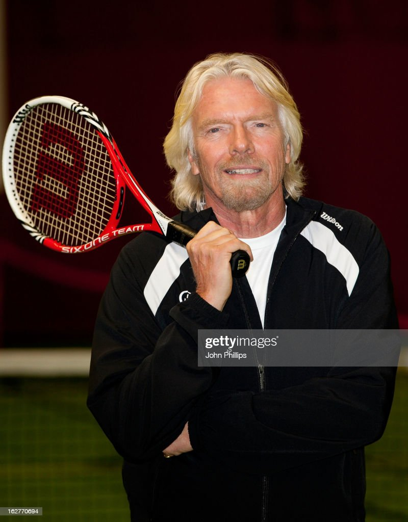 Sir Richard Branson attends a photocall as Laura Robson is announced as the face of Virgin Active on February 26, 2013 in Chiswick, England.