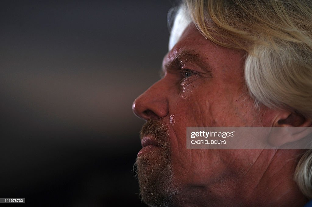 Sir Richard Branson attends a press conference in Newport Beach, California on April 5, 2011 to announce plans to take a solo piloted submarine to the deepest points in each of the wolrd's five oceans. The five dives will take place in the Mariana Trench (Pacific Ocean), Puerto Rico Trench (Atlantic Ocean), Diamantina Trench (Indian Ocean), South Sandwich Trench (Southern Ocean) and Molloy Deep (Arctic Ocean). Virgin's Oceanic's first dive will be to the Mariana Trench later in 2011 and a futher four dives are scheduled over the next 24 months.