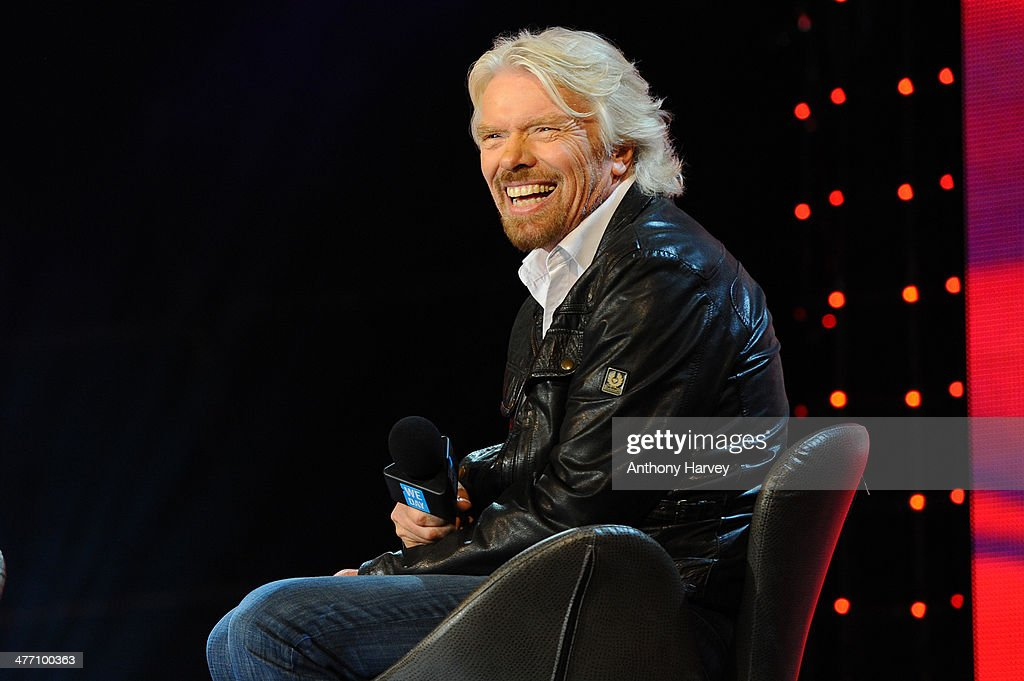 Sir <a gi-track='captionPersonalityLinkClicked' href=/galleries/search?phrase=Richard+Branson&family=editorial&specificpeople=220198 ng-click='$event.stopPropagation()'>Richard Branson</a> attends as Free The Children hosts their debut UK global youth empowerment event, We Day at Wembley Arena on March 7, 2014 in London, England.