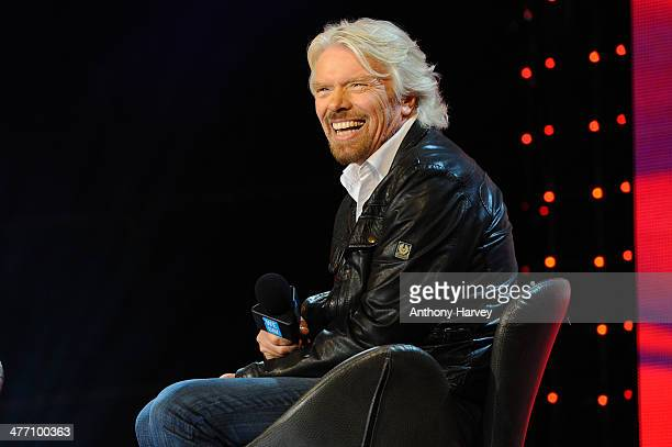 Sir Richard Branson attends as Free The Children hosts their debut UK global youth empowerment event We Day at Wembley Arena on March 7 2014 in...