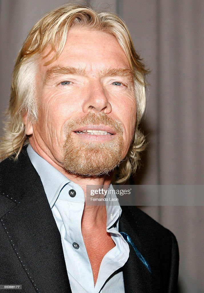 Sir Richard Branson attends day 4 of Olympus Fashion Week Spring 2006 at Bryant Park September 12, 2005 in New York City.