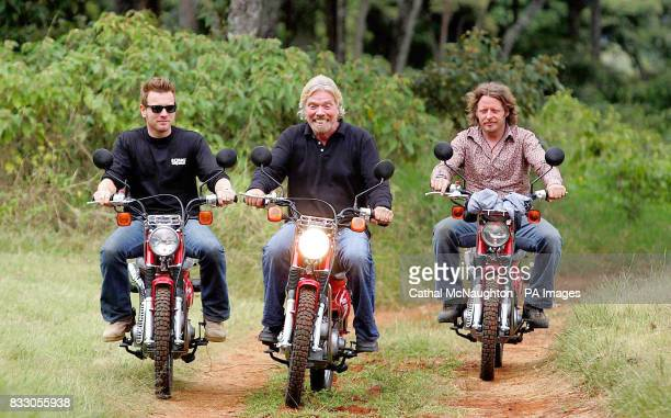 Sir Richard Branson is joined by Ewan McGregor and Charlie Boorman as he delivered the first batch of motorcycles to Nairobi bought by Virgin...