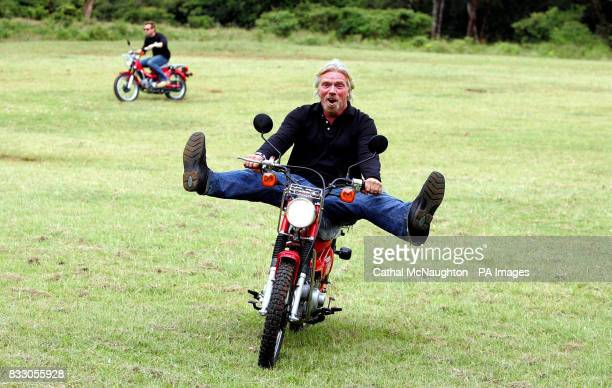 Sir Richard Branson is joined by Ewan McGregor as he delivered the first batch of motorcycles to Nairobi bought by Virgin Atlantic for African...