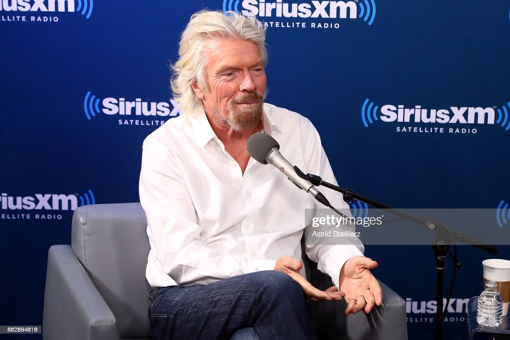 "Sir Richard Branson Participates In A SiriusXM ""Town Hall"" Event Hosted By Dan Rather"