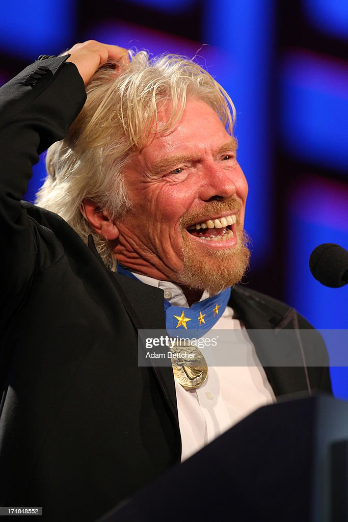 Sir <a gi-track='captionPersonalityLinkClicked' href=/galleries/search?phrase=Richard+Branson&family=editorial&specificpeople=220198 ng-click='$event.stopPropagation()'>Richard Branson</a> speaks during the 2013 Starkey Hearing Foundation's 'So the World May Hear' Awards Gala on July 28, 2013 in St. Paul, Minnesota.