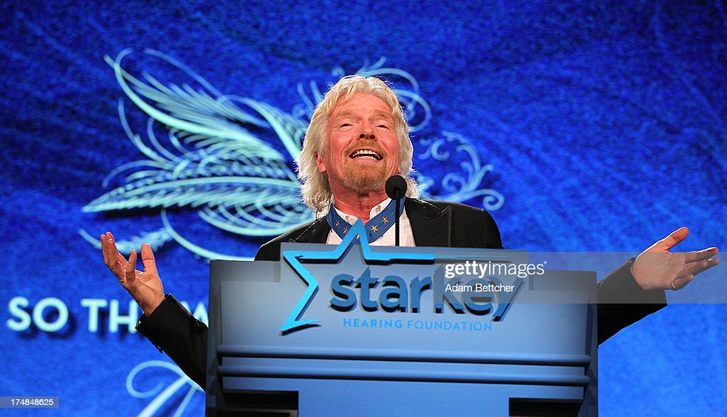 Sir Richard Branson speaks during the 2013 Starkey Hearing Foundation's 'So the World May Hear' Awards Gala on July 28 2013 in St Paul Minnesota