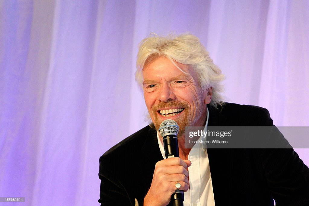 Sir <a gi-track='captionPersonalityLinkClicked' href=/galleries/search?phrase=Richard+Branson&family=editorial&specificpeople=220198 ng-click='$event.stopPropagation()'>Richard Branson</a> speaks during the Talent Unleashed Awards 2015 on September 11, 2015 in Sydney, Australia.
