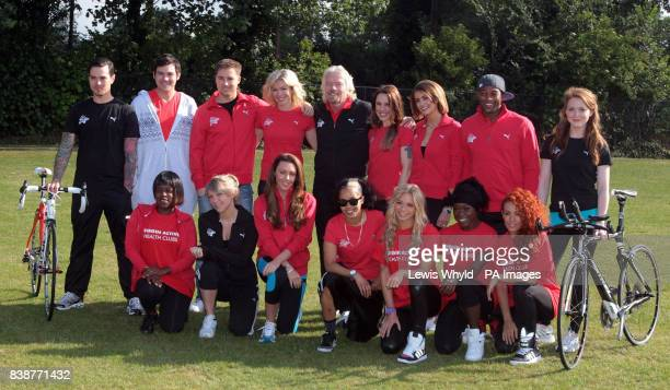 Sir Richard Branson with celebrities including Matt Willis Nell McAndrew Melanie C Liz Locke Oritseacute Williams Chloe Madeley and Michelle Heaton...