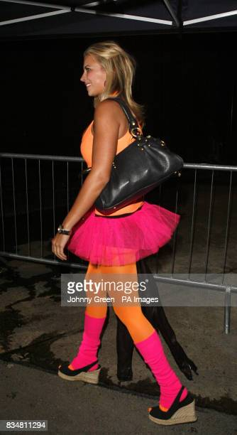 Sir Richard Branson's daughter Holly Branson arrives at the Renaissance Rooms in south London for the DayGlo Midnight Roller Disco an event organised...