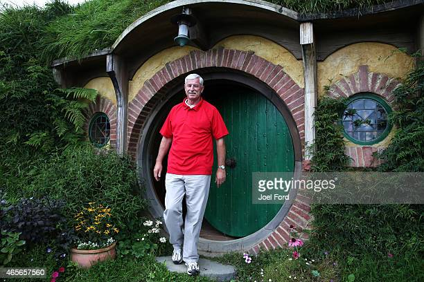 Sir Richard Hadlee at the Hobbiton Movie Set prior to taking part in a backyard cricket match captained by Kiwi cricket greats Sir Richard Hadlee and...