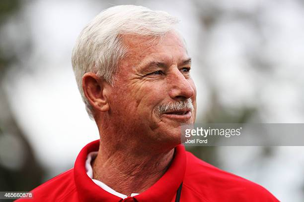 Sir Richard Hadlee during a backyard cricket match captained by Kiwi cricket greats Sir Richard Hadlee and Stephen Fleming under the famed 'party...