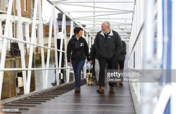 Sir Robin KnoxJohnston and Dame Ellen MacArthur launch a partnership between KnoxJohnston's Clipper Round the World race and the Ellen MacArthur...