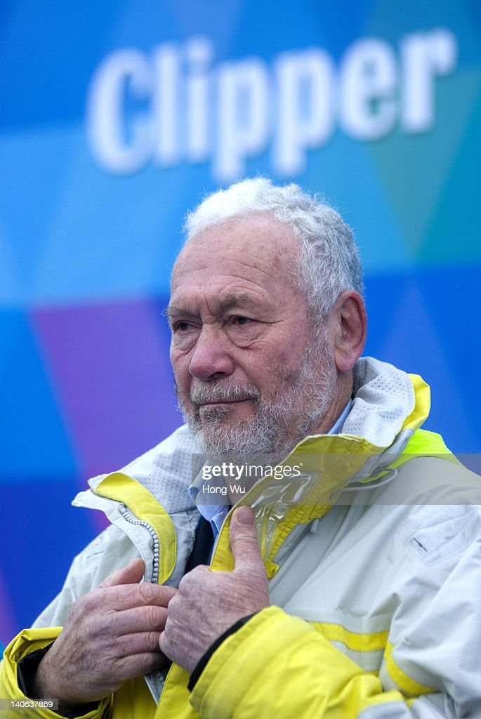 <a gi-track='captionPersonalityLinkClicked' href=/galleries/search?phrase=Sir+Robin+Knox-Johnston&family=editorial&specificpeople=2821245 ng-click='$event.stopPropagation()'>Sir Robin Knox-Johnston</a>, the founder of the Clipper Round The World Yacht Race and the chairman of Clipper Ventures PLC, attends the starting ceremony for Leg 6 (Race 9) of Clipper Round The World Race on March 04, 2012 in Qingdao, China. Ten ocean racing yachts start their longest race of the 40,000 miles (64,000 km) challenge as they sail from Qingdao, China to Oakland, San Francisco Bay of USA.
