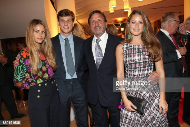 Sir Rocco Forte owner Rocco Forte hotels and his daughter Lydia Forte son Charles Forte and daughter Irene Forte during the 2oth 'Busche Gala' at The...