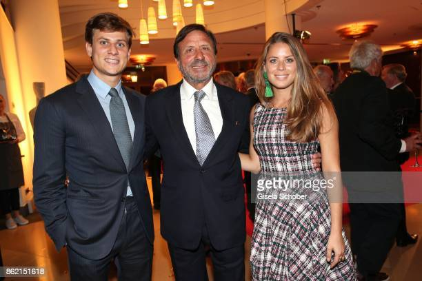 Sir Rocco Forte owner Rocco Forte hotels and his daughter Lydia Forte and son Charles Forte during the 2oth 'Busche Gala' at The Charles Hotel on...