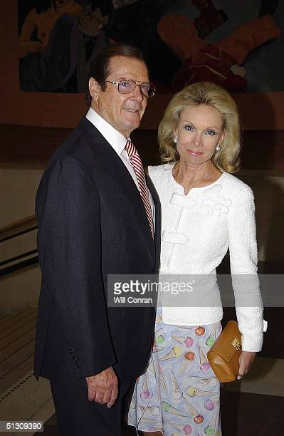 Sir Roger Moore with his wife Lady Christina attend the Hans Christian Andersen 2005 worldwide celebration of the work and life of the famous Danish...