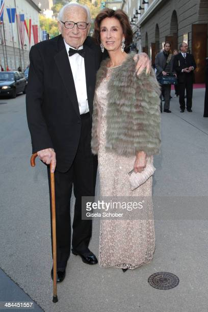 Sir Ronald Grierson and Esther von SalisSamaden attend the opening of the easter festival 2014 on April 12 2014 in Salzburg Austria