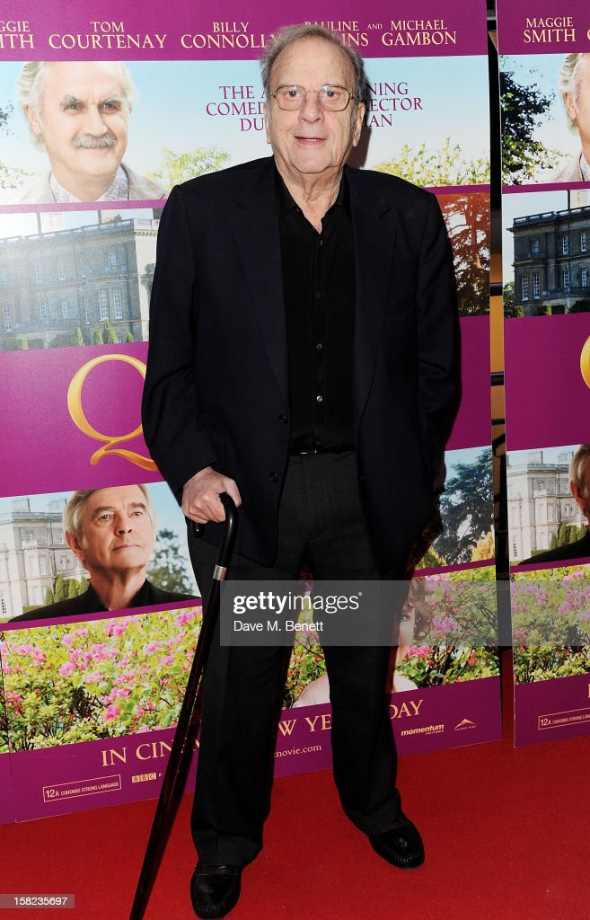 Sir Ronald Harwood attends a Gala Screening of 'Quartet' at Odeon West End on December 11, 2012 in London, England.