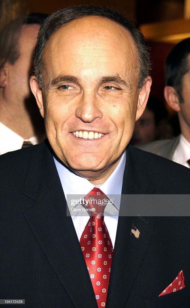 Sir Rudolph Giulian, Burberry Plays Host To Rudolph Giuliani & His Party, Burberry, Bond Street, London.