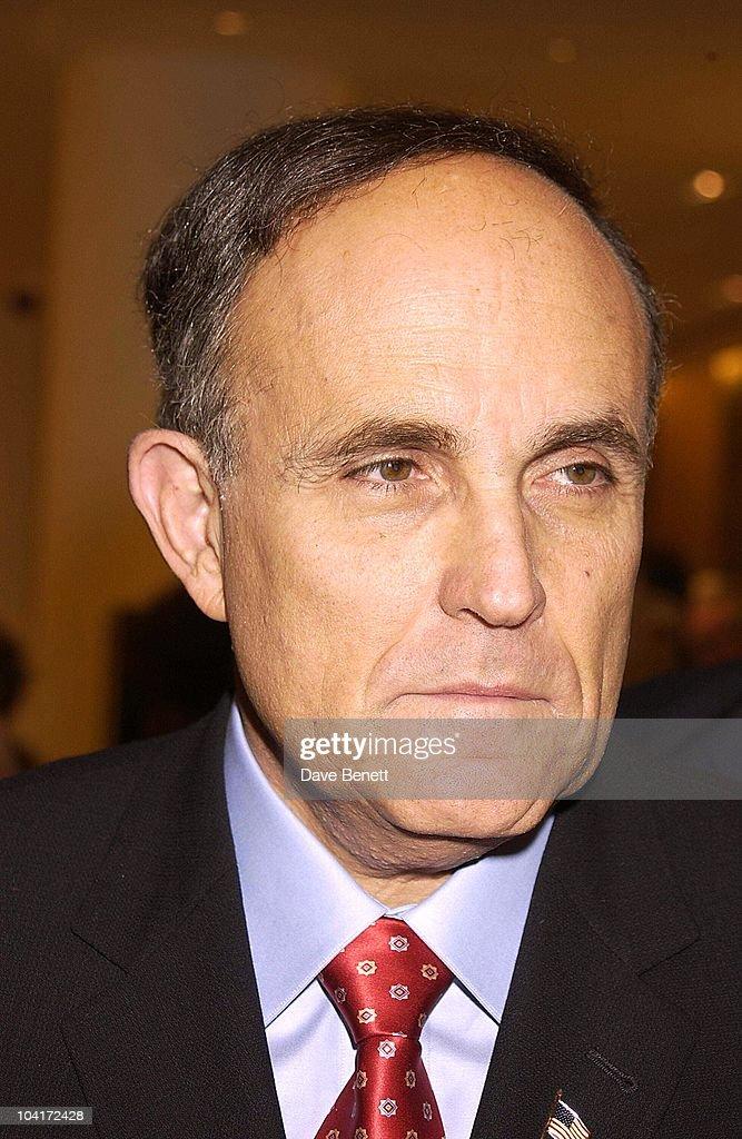 Sir Rudolph Giuliani, Burberry Plays Host To Rudolph Giuliani & His Party, Burberry, Bond Street, London.