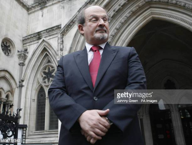 Sir Salman Rushdie arrives at the Royal Courts of Justice in central London
