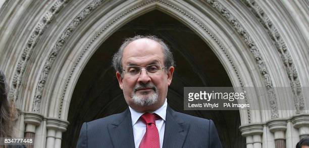 Sir Salman Rushdie leaves the Royal Courts of Justice in central London