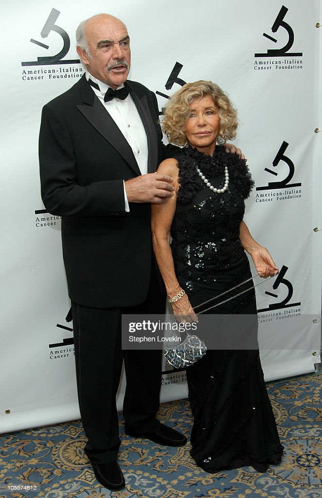Sir Sean Connery and wife Lady Micheline Connery during American-Italian Cancer Foundation Annual Benefit Gala at The Pierre Hotel in New York City, New York, United States.