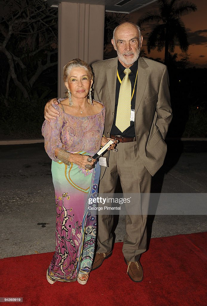 Sir Sean Connery and wife Micheline Connery attend the special tribute to Johnny Depp at the 6th Annual Bahamas Film Festival at the Balmoral Club on December 13, 2009 in Nassau, Bahamas.