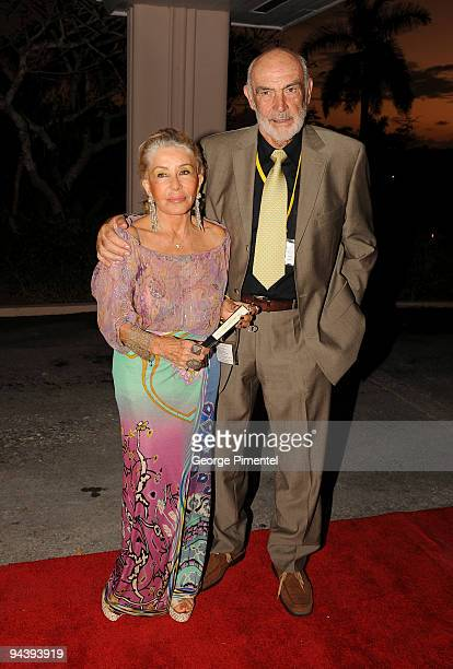 Sir Sean Connery and wife Micheline Connery attend the special tribute to Johnny Depp at the 6th Annual Bahamas Film Festival at the Balmoral Club on...